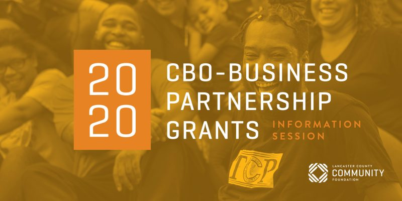 View the recording of the 2020 CBO-Business Partnership Program Information Session here:https://zoom.us/rec/share/wZJZdruu0XpIcNLE9U3YSIEjM9rbeaa80SVLrvsImEwsGoA00xAKKphT6MVGM-LY?startTime=1585227866000
