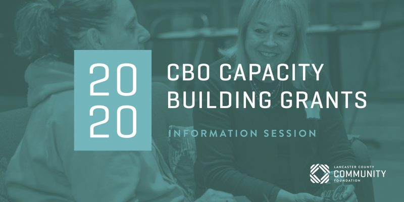 View the recording of the 2020 CBO Capacity Building Information Session here: https://zoom.us/rec/share/zM1xcp_x7EBLG53Bsk_0XLM7Xd_UT6a82nMX-PdZmB0SotQeG9-e2-lvR3M-_HRQ?startTime=1585161677000