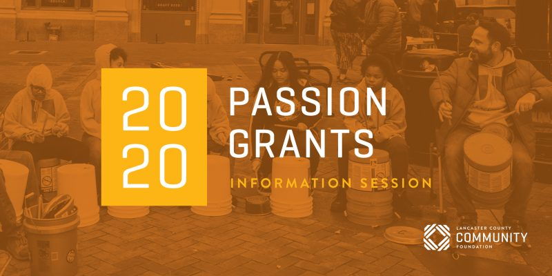 View the recording of the 2020 Passion Grants Information Session here:https://zoom.us/rec/share/3PAuMu_30EdIHafN0m_xf5AHFJrlaaa8hCQZ-_VbxUhSc1jdiI0r7xTaF0Oi2F5X