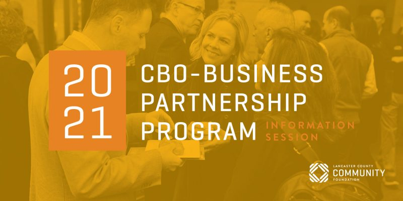 2021 CBO Business Partnership program info session graphic